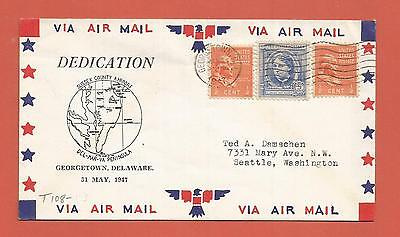 United States – Airport Dedication Cover – 1947 – Georgetown, Delaware