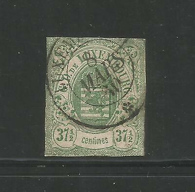 LUXEMBOURG – 1859 – COAT OF ARMS – Scott # 11 – 37-1/2 Centimes, Green - USED