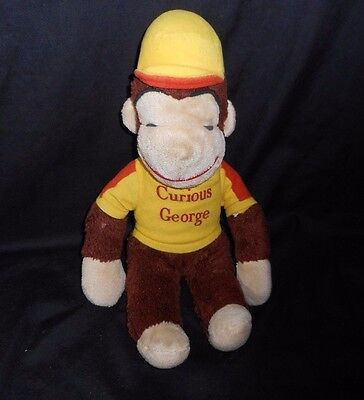 "16"" Vintage Knickerbocker Curious George Monkey Yellow Stuffed Animal Plush Toy"