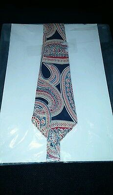 Very Old Necktie Vintage Unknown Fabric Geometric Rare Multi Color Tie Men