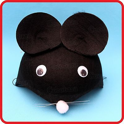 Cute Kids Childrens Mouse Rat Hat Cap-Dress Up-Costume-Party-Cosplay