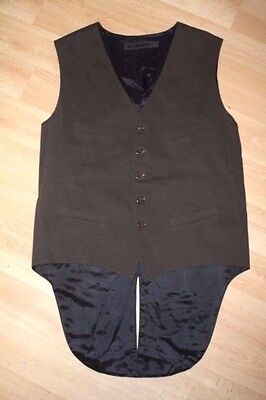 Very Stylish Fitted All Saints Smart Waistcoat Size 40 Slim Fit Cool Vintage