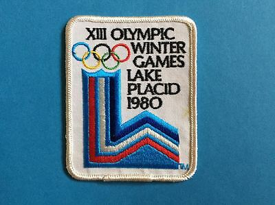 Rare Vintage 1980 Winter Games Lake Placid Olympics Sew On Hat Jacket Patch