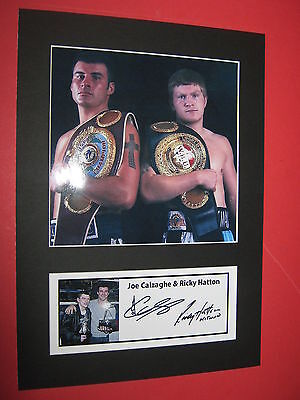 Ricky Hatton & Joe Calzaghe Boxing A4 Photo Mount Signed Pre-Printed