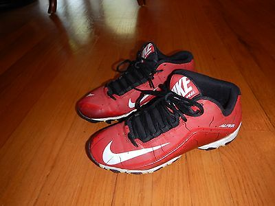 Boys Red Nike Alpha Football/Lacrosse Cleats Size 6.5