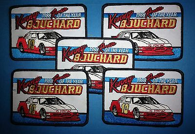 5 Lot 1988 NASCAR Rookie Of The Year Hat Jacket Racing Patches Kenny Bouchard