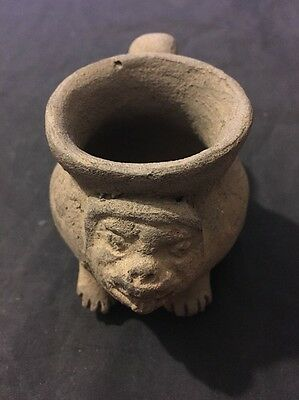 500 AD Pottery Pre Colombian Costa Rica Cup Monkey