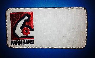 Farmhand Tractors Equipment Auto Farm Hat Jacket Workshirt Uniform Patch Crest