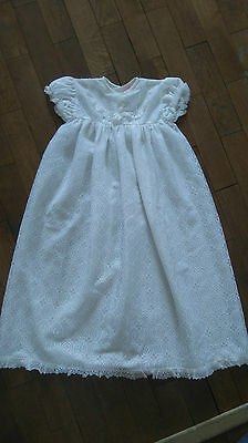 Vintage Baby 3-6 Months Christening Gown White Lace 60s/70s?