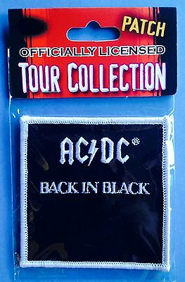 AC / DC Back In Black Rock Music Iron On Hat Jacket Backpack Hoodie Patch B