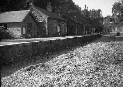 Photo  Talyllyn (Brecon) Railway Station  Of The Old Station With Track And Sign