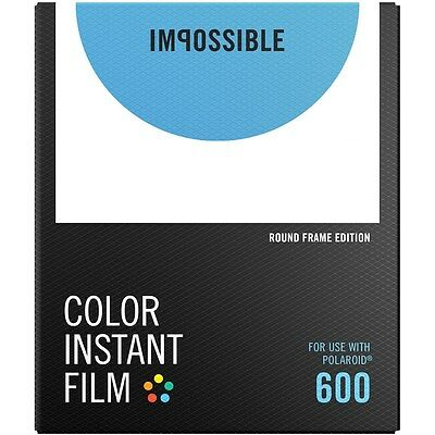 Impossible PRD4524 Color Instant Film for Polaroid 600 Camera -White Round Frame