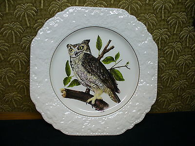 """Vintage Plate Owl Scene Lord Nelson Pottery England Hand Crafted 9"""""""