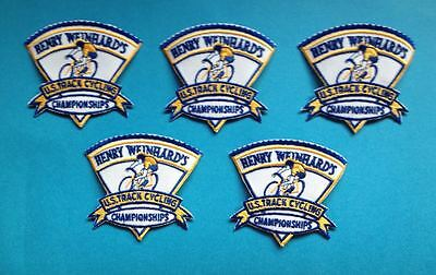 5 Lot USA US Track  Cycling Championships Patches Olympics Henery Weinhard's