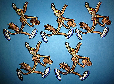 5 Lot Wile E. Coyote Iron On Hat Jacket Hoodie Backpack Patches Crests A