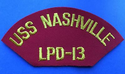 Vintage 1960's US Navy USS Nashville LPD-13 Jacket Hat Iron On Patch 042