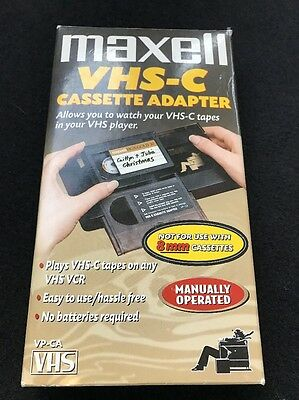 MAXELL VHS-C Cassette Adapter VP-CA to watch in VHS or S-VHS Player