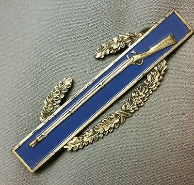 Ww2 Sterling Cib Combat Infantry Badge Insignia Pin Medal- Sterling Clutches  #4