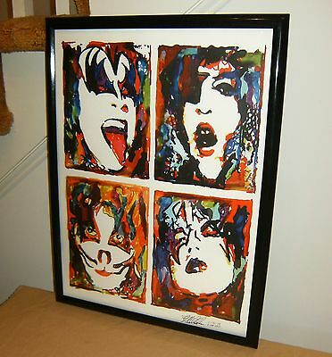 Kiss, Paul Stanley, Gene Simmons, Ace Frehley, Peter Criss, 18x24 POSTER w/COA