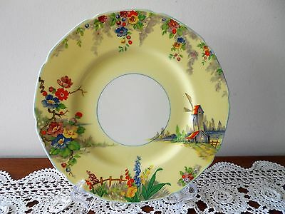 GRINDLEY CHINA THE OLD MILL PATTERN DINNER PLATE TUNSTALL ENGLAND C1940s VINTAGE
