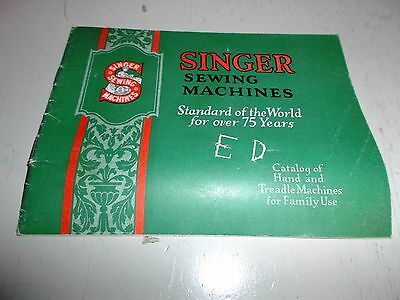 Antique Singer Sewing Machines Catalog of Hand & Treadle Machines for Family Use