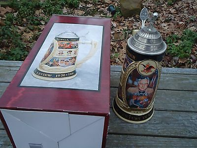 Budweiser Anheuser Busch CS335 Roosevelt 20th Century In Review 1920-1939 Stein