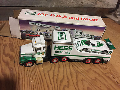 1988 Hess Truck Toy truck and Racer with Box Used