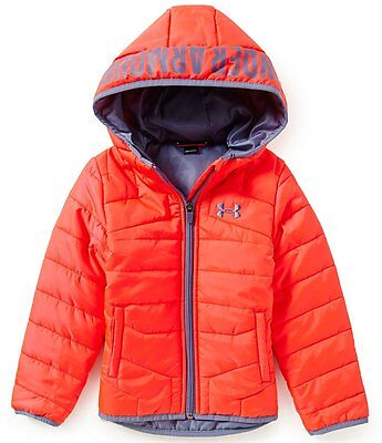 NEW Under Armour Girls UA Feature Pink Chroma Hooded Puffer Jacket Sz. 2T