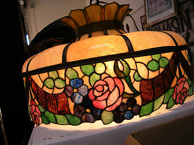 Antique Chicago Mosaic Stained Glass Lamp Shade