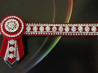 Red / Silver Bling  Browband