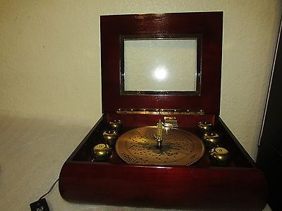 Mr Christmas Musical Bell Symphonium Music Box  with 16 Discs works GREAT