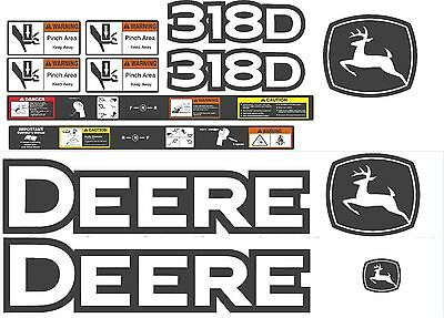 John Deere 318D Decal kit