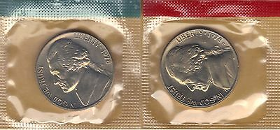 1978 P+D Jefferson Nickel  ~ Uncirculated Coins in the Original Mint Cello
