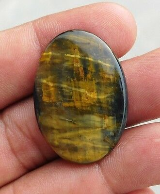 30.4 Cts Natural Awesome Yellow Tiger Eye 35X23X4 Mm  Loose Cab Gemstone