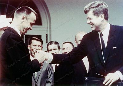 4x5 NASA Transparency Kennedy Congratulates Shepard MR-3 Mission 1960 #1008984