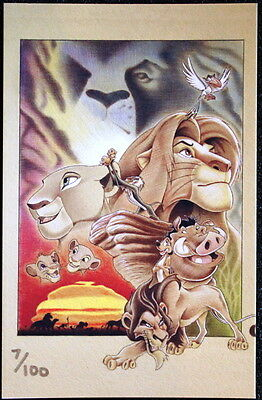 Lion King - Disney Lithograph & Super Jumbo Pin - Acme Artists Series - Le 100