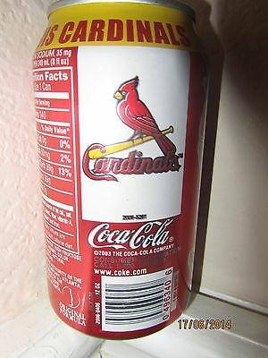 2006 ST LOUIS CARDINALS Full COKE Can World Series Champions