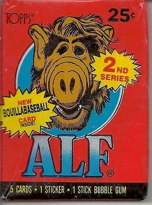 ALF Series 2 Trading Card Wax Pack Vintage 1987 Topps