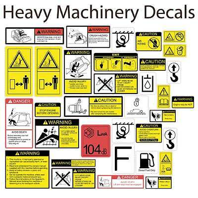 Safety Decals Safety Stickers Tracked Skid Steer Loader-Takeuchi Case CAT Bobcat