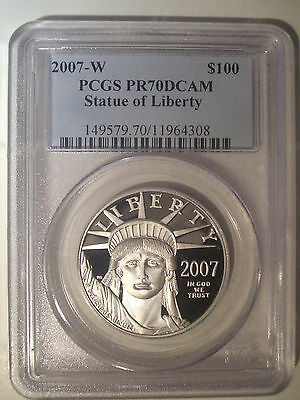 2007-W $100 Dollar * PLATINUM * PCGS PR70 DCAM Proof * American EAGLE $2,150++++