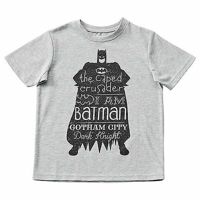 NEW Batman Short Sleeve Print T-Shirt Kids Size 2