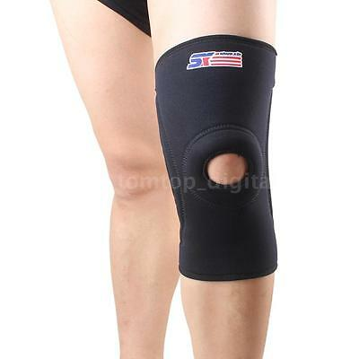 4 Springs Safety Knee Pad Wrap Sleeve Elastic Brace Protector Support DU X9S5