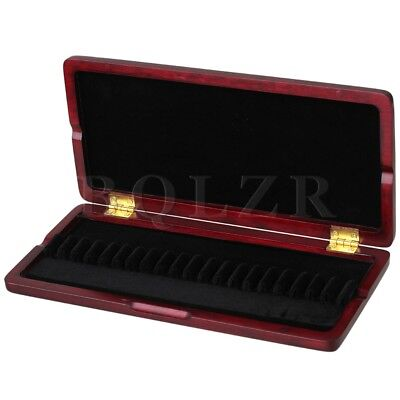 Beautiful Red Wood Color Wooden Oboe Reed Case for 20 Reeds Open Easily Durable