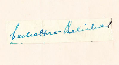 Leslie Hore Belisha signed cut laid to page