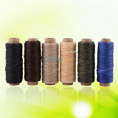 50M 150D 1mm Leather Sewing Waxed Thread Wax String Hand Stitching Craft Durable