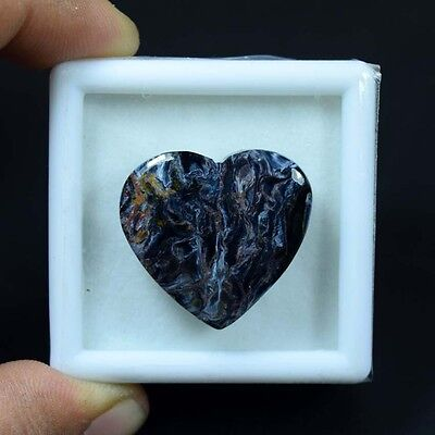 29.80 Cts. 100% Natural Chatoyant Pietersite Heart Cabochon Untreated Loose Gems