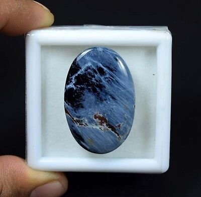 36.50 Cts. 100 % Natural Chatoyant Pietersite Oval Cabochon Untreated Loose Gems