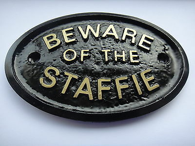 Latex Rubber Mould Mold Molds Of A Beware Of The Staffie Sign For Shed-Wall!!!!!