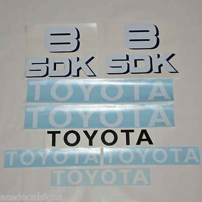 ANY MODEL 3SDK6 3SDK8 3SDK9 3SDK10 3SDK11 Decals Stickers Kit TOYOTA HUSKI