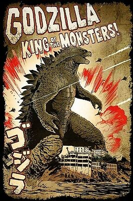 """Godzilla Poster """"licensed"""" Brand New """"king Of The Monsters"""""""
